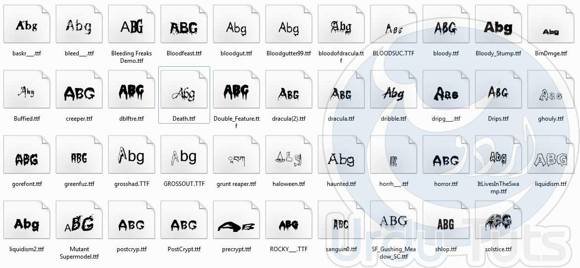 Blood Fonts -