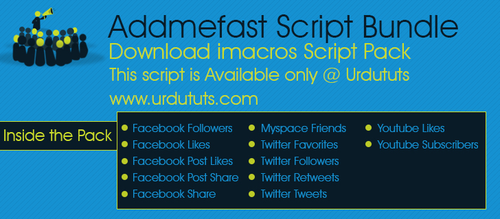 Addmefast iMacros Scripts Collection
