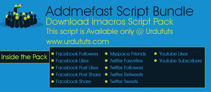 Addmefast iMacros Scripts Collection
