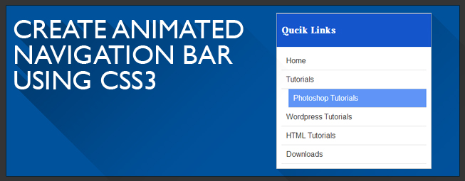 How to Make Navigation Bar using HTML5 & CSS3 Urdu Tutorial